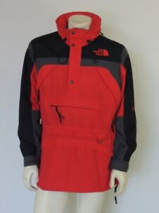 Vintage 1990s The North Face EXTREME GEAR Pullover Jacket Parka Red Size MEDIUM