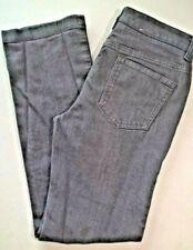 JONES NEW YORK SPORT Jeans Sz 4 Gray 5 Pocket Straight Leg Stretch Cotton Blend