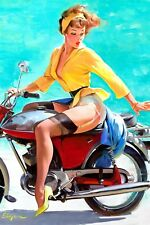 Pin-up Breezing up Gil Elvgren High Quality Metal Magnet 2.7 x 4 inches 9651