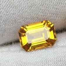 UNHEATED 9.09CT YELLOW SAPPHIRE 10*12MM RECTANGLE VVS GEMSTONE
