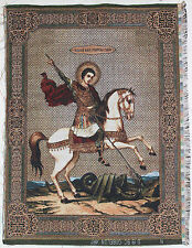 """Gobelin tapestry ORTHODOX Icon of Miracle of St George and the Dragon - 12""""x16"""""""