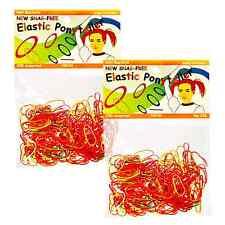 Elastic Hair Rubber Bands Ponytails Braids (QTY 500) Neons - B2G1 FREE! _144-51