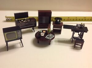 Dollhouse Miniature Japanese Living Room Furniture 1:24 Accessories Featuring