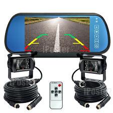 """7"""" Rear view Mirror Monitor 12V 24V Reversing CCD Camera For Truck Caravan Bus"""