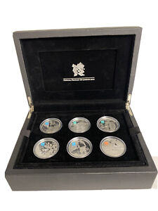 The  ROYAL MINT A CELEBRATION OF BRITAIN 6 COIN PROOF STERLING SILVER SET 172.8g