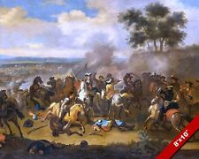 BATTLE OF THE BOYNE PAINTING BRITISH WILLIAMITE WAR IRELAND ART CANVAS PRINT