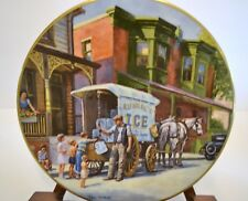 TED XARAS  -  ICE -  YESTERDAY'S  MEMORIES COLLECTIBLE PLATE - 1ST OF THE SERIES