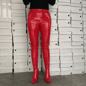 Women Pants Boots Chunk High Heels Two In One Pants Shoes Knee Thigh High Boots