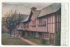 Warwickshire - Bournville, Corner of Office Buildings - 1900's advertising card
