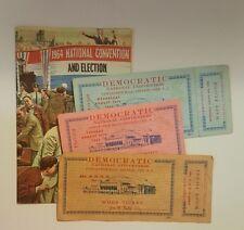 1964 Election Johnson Nixon Rep Dem Convention + 3 Democratic Convention Tickets