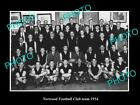 OLD LARGE HISTORIC PHOTO OF THE SANFL NORWOOD FOOTBALL CLUB TEAM 1954
