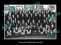 OLD LARGE HISTORIC PHOTO OF THE SANFL NORWOOD FOOTBALL CLUB TEAM 1954