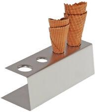 Eiswaffel Ständer Waffelständer mit 4 Löchern 9,5 x 27,5 x 9 cm Gastlando