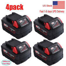 4 X 18V For Milwaukee 48-11-1850 Extended Capacity Batteries M18 XC18 48-11-1852