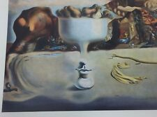 Apparition of Face and Fruit Dish on Beach Print Vintage Salvador Dali 25497