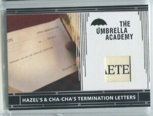 2020 Umbrella Academy Prop Relic RC10 Hazel and Cha-Cha's Termination Letter