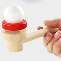 WOODEN MONTESSORI BLOWING BALL FLOATING GADGET BOARD GAME PARTY FUN KIDS TOY