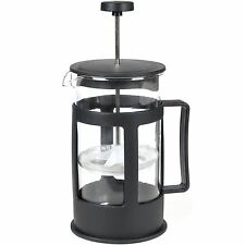 Black French Press Cafetiere Filter Coffee Tea Maker Plunger Mixer Glass Pitcher