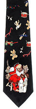 Good Girls Boys Men's Neck Tie Christmas Xmas Norman Rockwell Holiday Necktie