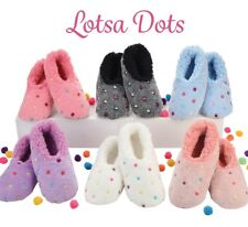Snoozies  washable soft cosy  Slippers Dots & spots Colours assorted New