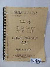 SUNFLOWER FARM BOOK PARTS MANUAL CONSERVATION 1433 DISC 19 22 25 28 29 32 35'
