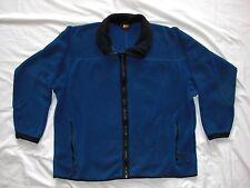 EUC REI Polartec Full Zip Fleece Jacket Men's Large In Blue Made In USA
