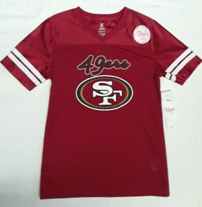 NFL Team Apparel SAN FRANCISCO 49ers GIRLS Printed Jersey Red [L / 14] New w/Tag