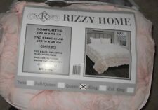 Rizzy Home Plush Dream Pink 3 Piece Queen Comforter Set Nwt Bt-1392 $375