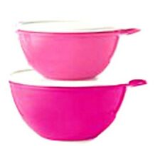 Tupperware NEW 2.5 cup and 6 cup bowl set, leakproof seals, stirring handle