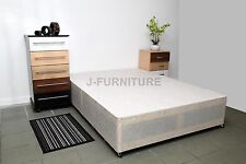 Luxury Double Divan Base in White! Cheapest on eBay!! Factory Shop!