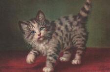 A/S A. LAMPE Switzerland CUTE TABBY GRAY KITTEN Cat SWEET POSTCARD Series