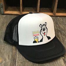3cbe791e15b Hamms Bear Beer Trucker Hat Mesh Vintage 80 s Style Brewery Snapback Cap  Black