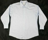 Brooks Brothers 346 Slim Mens Blue Striped L/S Button Down Shirt Sz 17 1/2 B3