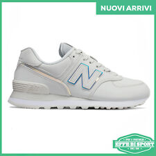 new balance 574 donna bianche lucide