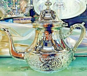 Moroccan Handmade Tea Pot Stainless Steel Large  ***NEW***