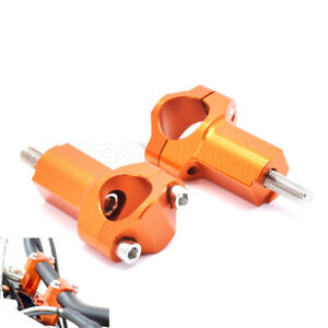 Orange Handlebar Risers Surport Mounts For KTM SX SX-F EXC EXC-F XC W XCF 00-16