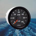 """VDO Cockpit Vision Tachometer Gauge 6000 RPM 52mm 2"""" 12V 333-015-009K"""