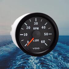 """VDO Cockpit Vision Tachometer Gauge 6000 RPM 52mm 2"""" 12V + Three Prong Connector"""