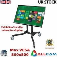 FS940 Led/lcd TV Trolley Floor Stand W/ Mounting Bracket & Glass Shelf