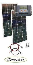 200W Solarset 12V Solarmodul Wohnmobil Garten neu mit MPPT Regler Solaranlage