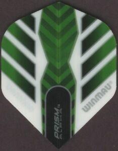 WINMAU PRISM Alpha Green/White Dart Flights: 3 per set