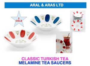 ✅ Classic Melamine *Tea Saucers* Suitable for all Turkish Tea Glasses (6 or 12)