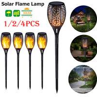 1-4X Solar Path Torch Light Dancing Flame Lighting 33LED Flickering Garden Lamp