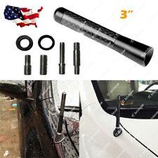 "3"" Universal Fit Carbon Fiber Short Screw-in Car Auto AM/FM Antenna Aerial Mast"