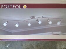 "Nib: Nice 70"" 6-Lite Adjustable Ceiling Track Light (Stainless-Steel Finish)"