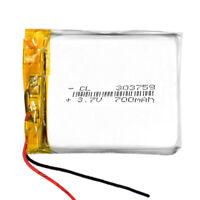 BATERÍA 303759 LiPo 3.7V 700mAh para teléfono, portátil, vídeo, mp3, mp4, luz