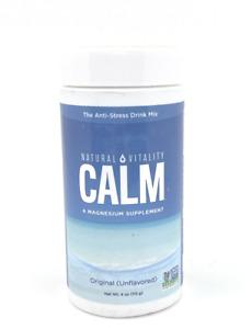 Natural Vitality Calm Anti Stress Drink Unflavored 4oz Vegan + Non- GMO RESTORES