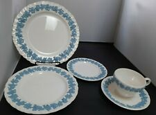 Wedgwood Queensware Shell Edge Lavender on Cream 5-Piece Place Setting Excellent