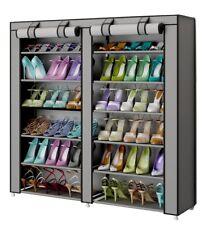 Organizador de tela de zapatos Zapatero resistente polvo 7 Pisos Color Gris