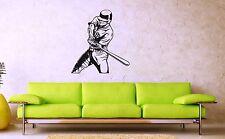 Wall Stickers Vinyl Decal Sports Baseball Bat Player ig1650